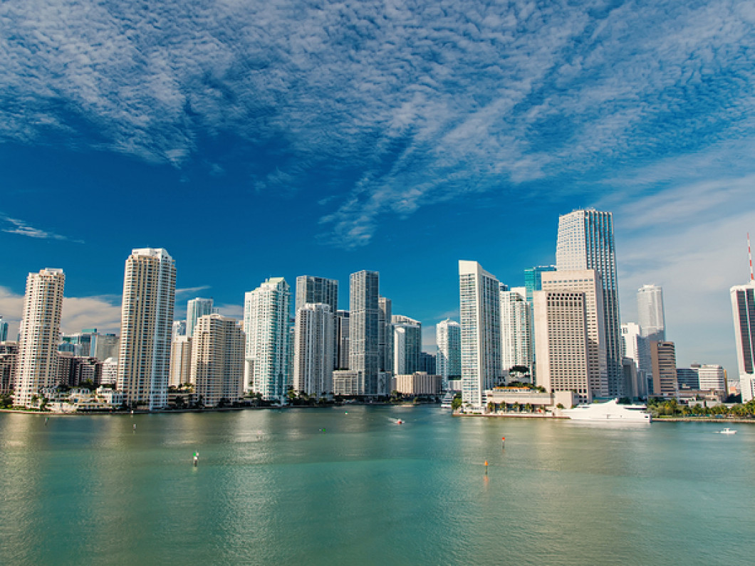 Miami Skyline with water view